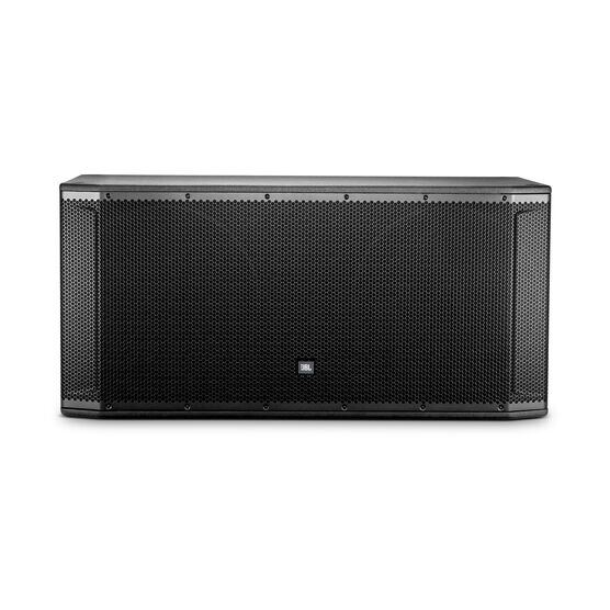 "JBL SRX828SP - Black - 18"" Dual Self-Powered Subwoofer System - Front"