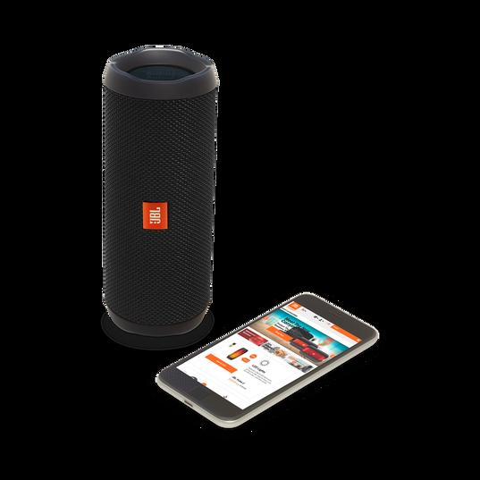 JBL Flip 4 - Black - A full-featured waterproof portable Bluetooth speaker with surprisingly powerful sound. - Detailshot 2