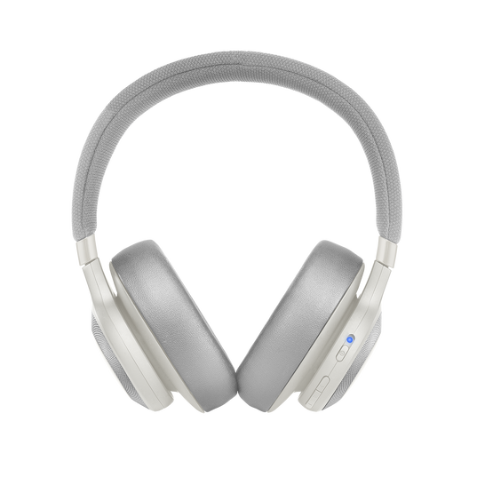 JBL E65BTNC - White - Wireless over-ear noise-cancelling headphones - Front