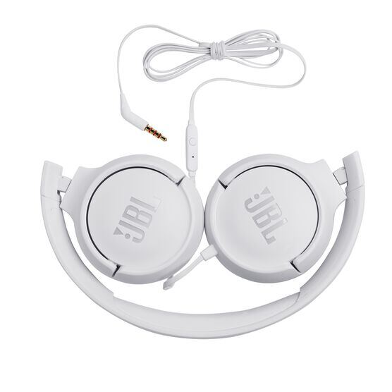 JBL TUNE 500 - White - Wired on-ear headphones - Detailshot 1