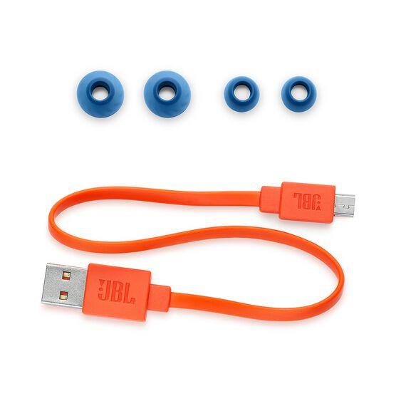 JBL LIVE 200BT - Blue - Wireless in-ear neckband headphones - Detailshot 3