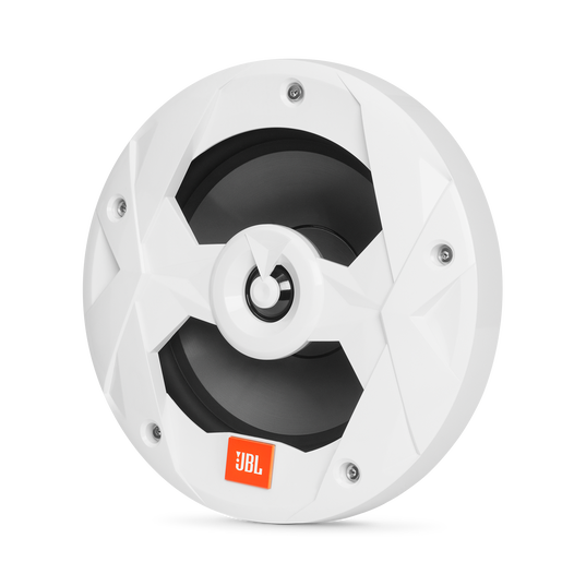 """Club Marine MS8LW - White Gloss - 8"""" (200mm) two-way marine audio speaker with RGB lighting – White - Hero"""