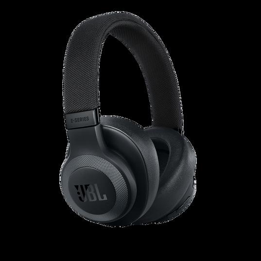 JBL E65BTNC - Black Matte - Wireless over-ear noise-cancelling headphones - Hero