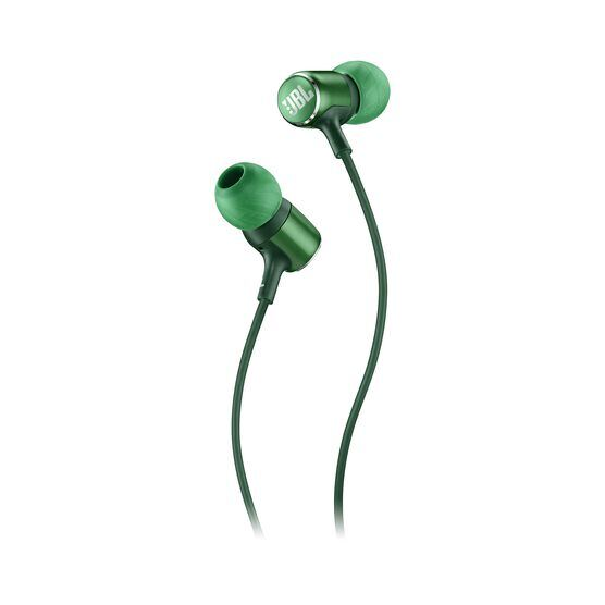 JBL LIVE 100 - Green - In-ear headphones - Detailshot 1