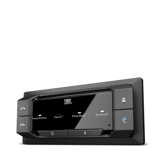GRAND TOURING GTR 104 - Black - 100W RMS 4-Channel Stadium Series Bluetooth Car Amplifier with Clari-Fi Technology and Party Mode - Detailshot 3