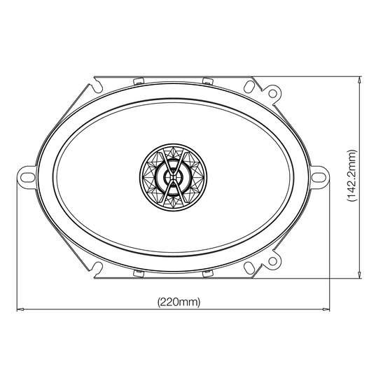 "Club 8620 - Black - 6""x8"" (152mm x 203mm) coaxial car speaker - Detailshot 2"