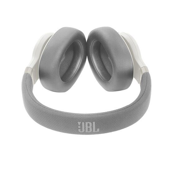 JBL E65BTNC - White - Wireless over-ear noise-cancelling headphones - Detailshot 1
