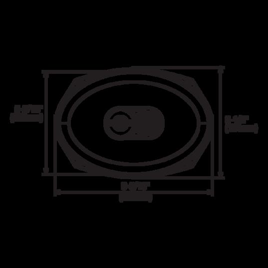 "GX962 - Black - 6"" x 9"" coaxial car audio loudspeaker, 300W - Detailshot 3"