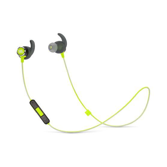 JBL REFLECT MINI 2 - Green - Lightweight Wireless Sport Headphones - Hero