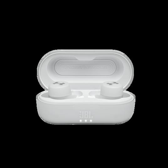 UA True Wireless Streak - White - Ultra-compact In-Ear Sport Headphones - Detailshot 4