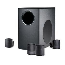 JBL C50PACK - Black - Packaged Surface-Mount Subwoofer-Satellite Loudspeaker System - Hero