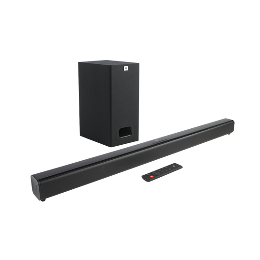 JBL Cinema SB130 - Black - 2.1 Channel soundbar with wired subwoofer - Hero