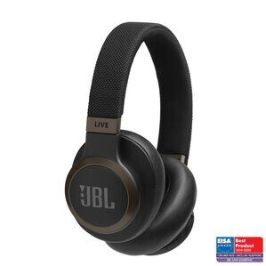 JBL LIVE 650BTNC - Black - Wireless Over-Ear Noise-Cancelling Headphones - Hero