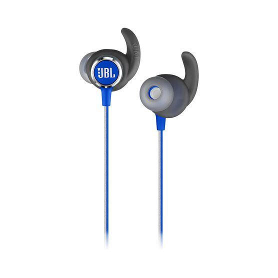 JBL REFLECT MINI 2 - Blue - Lightweight Wireless Sport Headphones - Detailshot 1