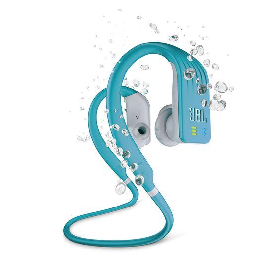 JBL Endurance DIVE - Teal - Waterproof Wireless In-Ear Sport Headphones with MP3 Player - Hero