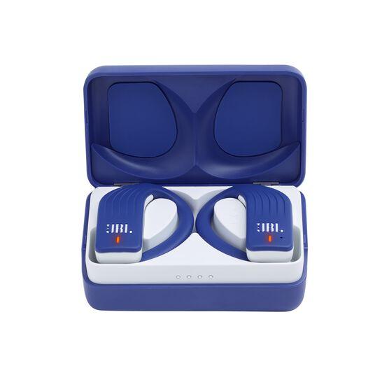 JBL Endurance PEAK - Blue - Waterproof True Wireless In-Ear Sport Headphones - Hero