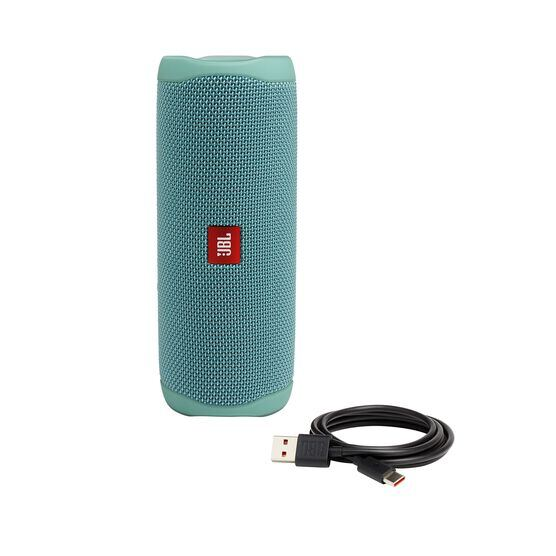 JBL FLIP 5 - Teal - Portable Waterproof Speaker - Detailshot 1
