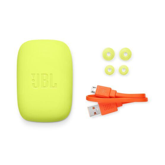 JBL Endurance JUMP - Yellow - Waterproof Wireless Sport In-Ear Headphones - Detailshot 4