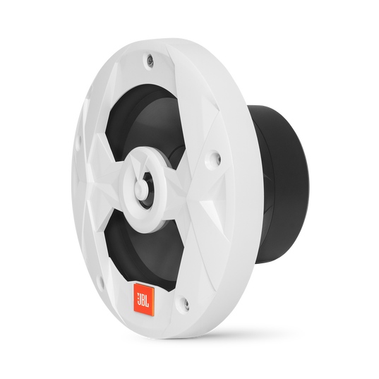 "Club Marine MS8LW - White Gloss - 8"" (200mm) two-way marine audio speaker with RGB lighting – White - Left"