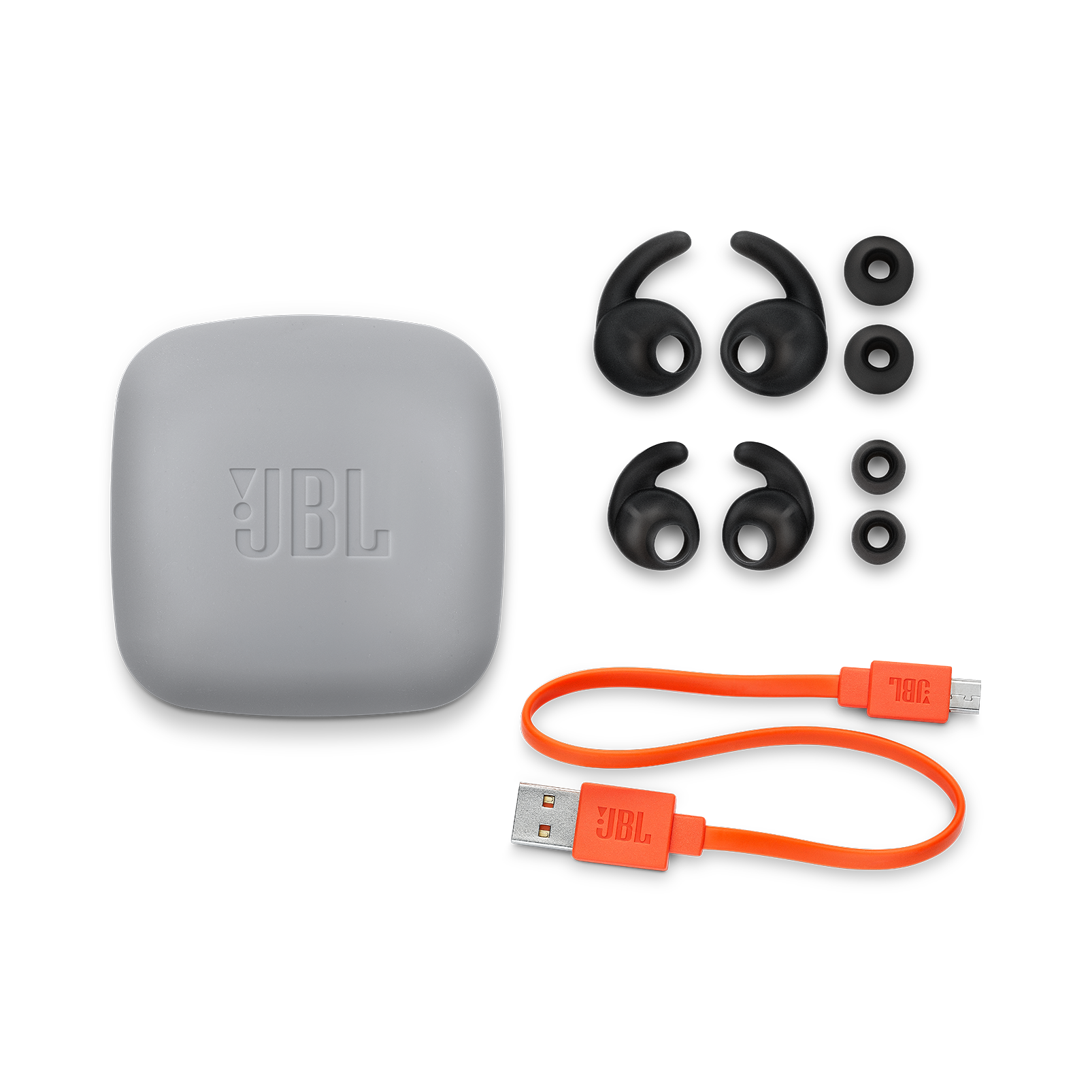 JBL Reflect Contour 2 - Black - Secure fit Wireless Sport Headphones - Detailshot 3