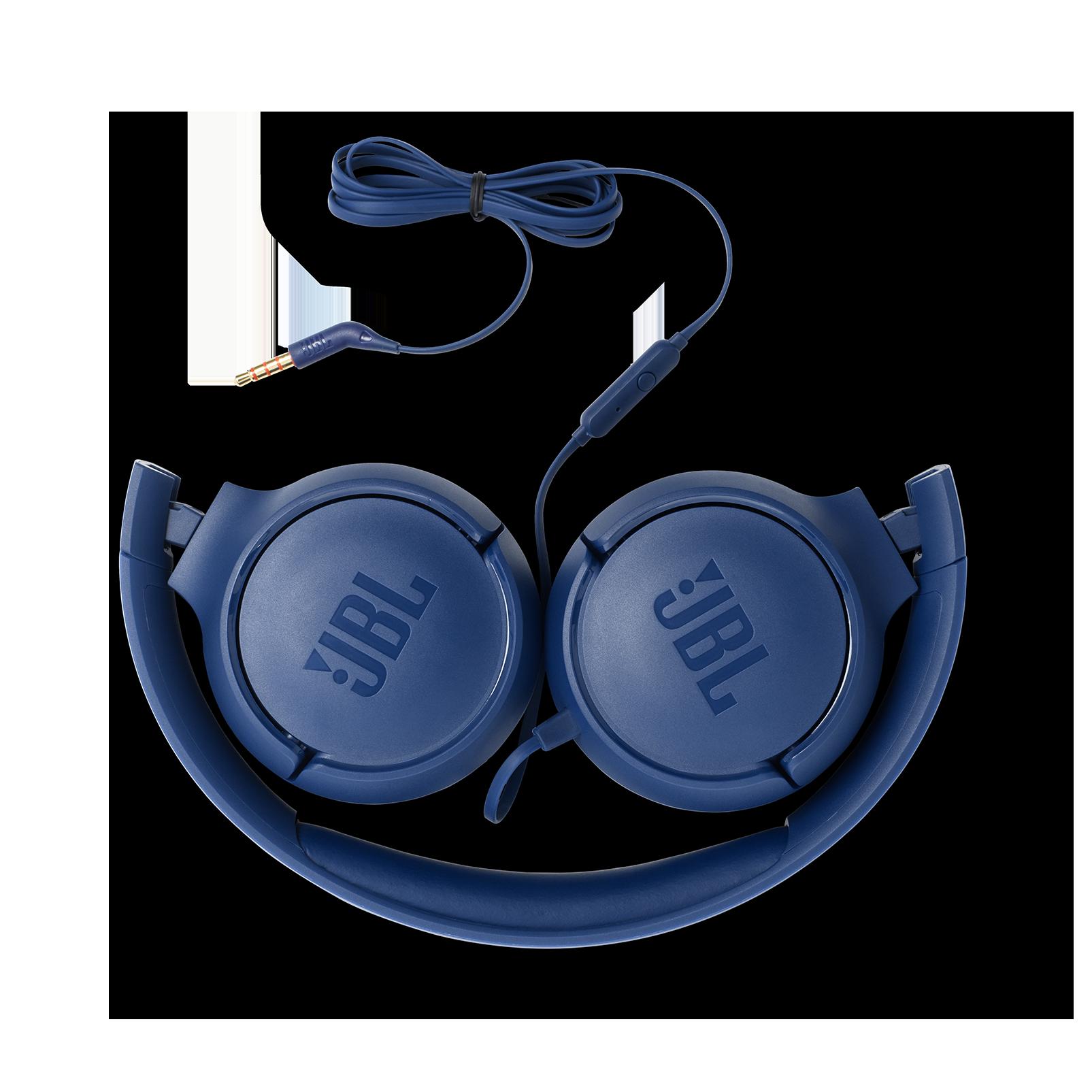 JBL TUNE 500 - Blue - Wired on-ear headphones - Detailshot 1