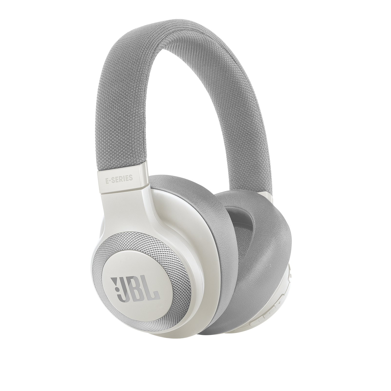 JBL E65BTNC - White - Wireless over-ear noise-cancelling headphones - Hero