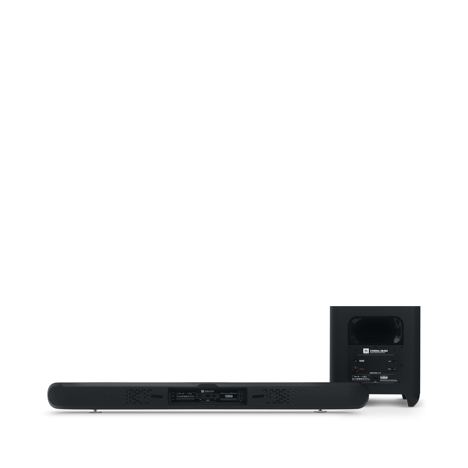 Cinema SB 450 - Black - 4K Ultra-HD soundbar with wireless subwoofer. - Back