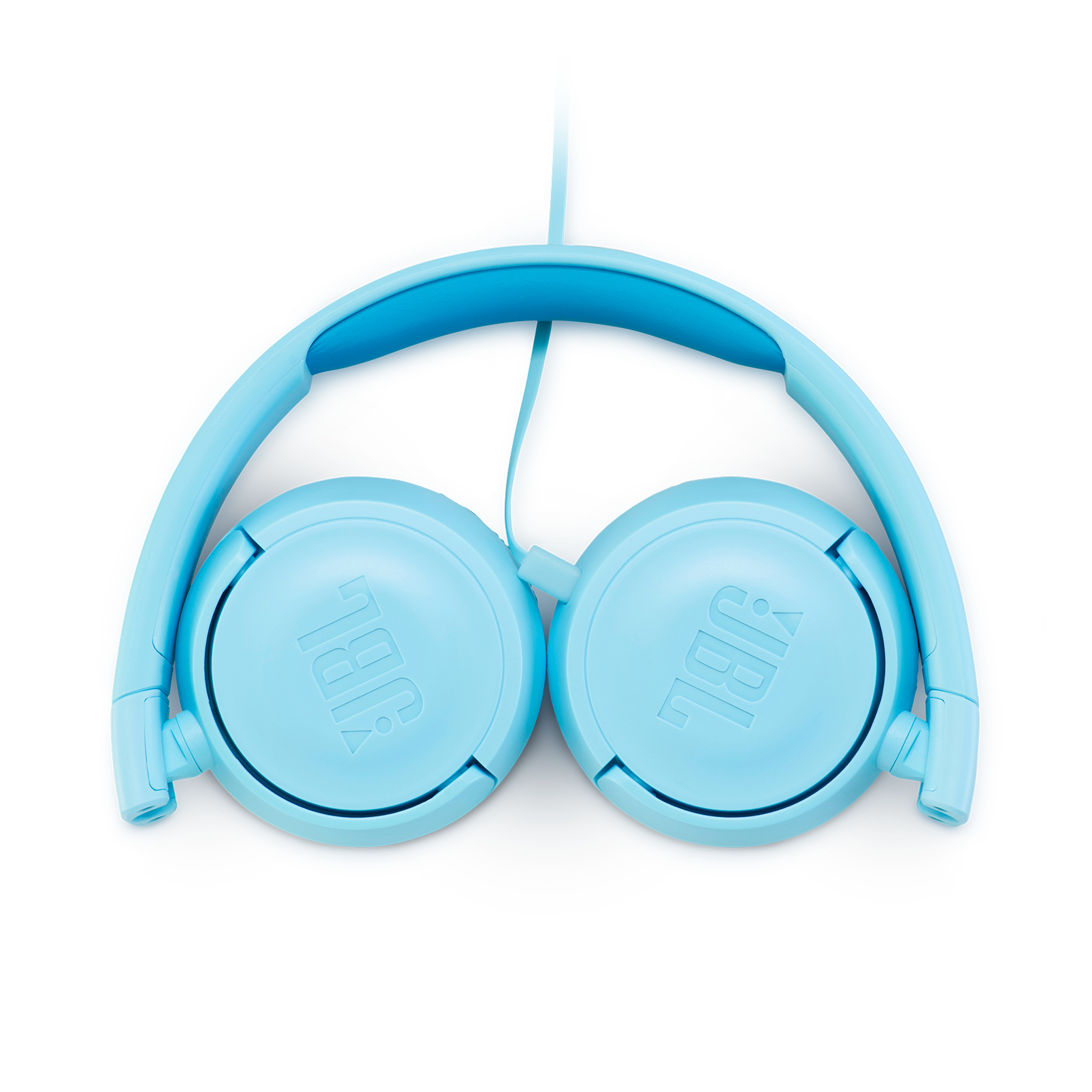 JBL JR300 - Ice Blue - Kids on-ear Headphones - Detailshot 3