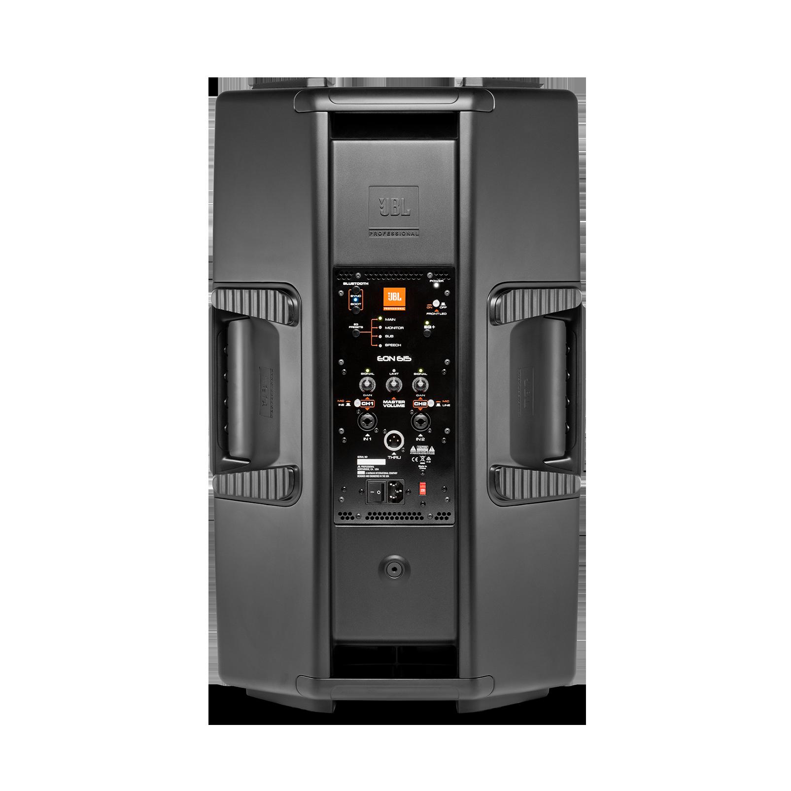 "JBL EON615 - Black - 15"" Two-Way Multipurpose Self-Powered Sound Reinforcement - Back"