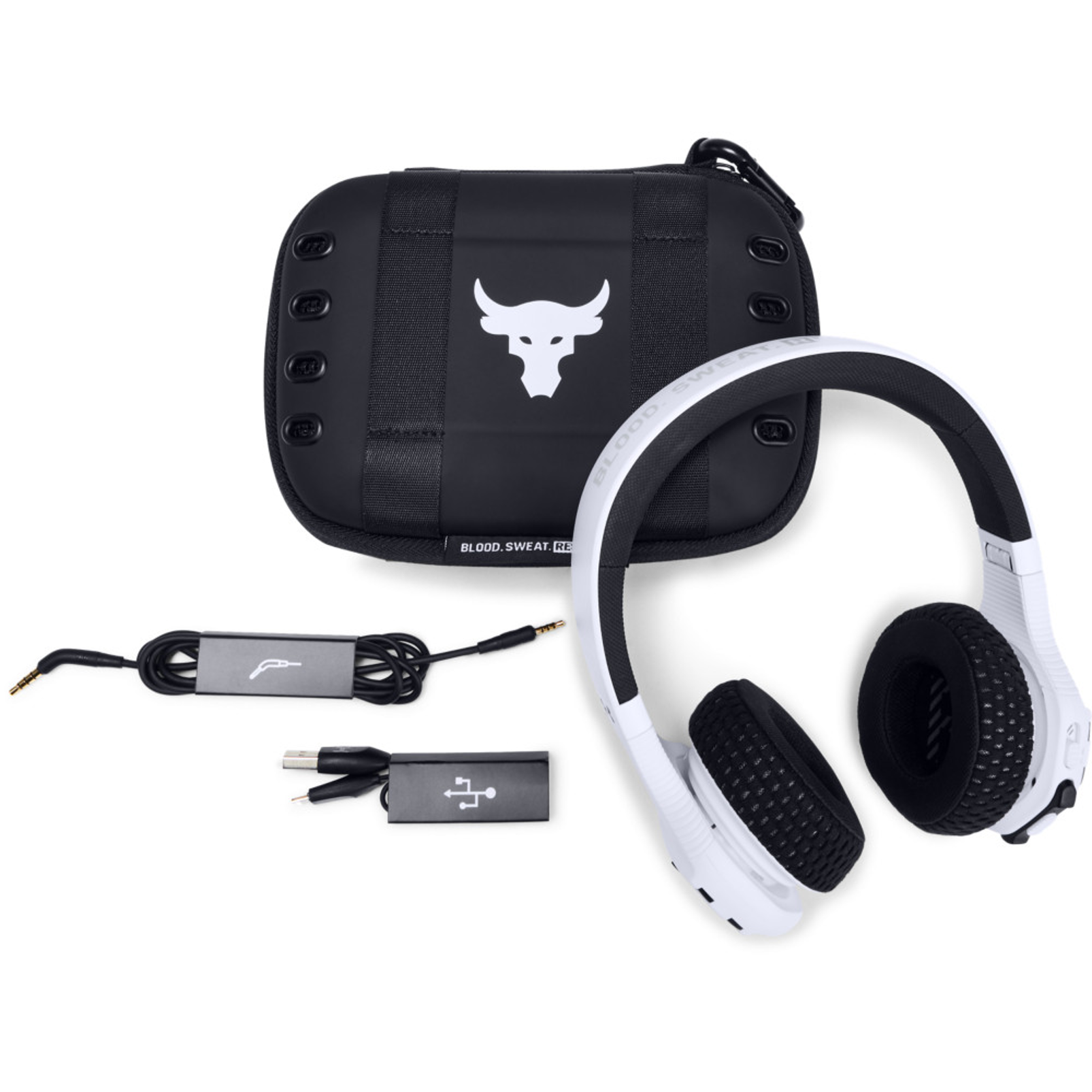 UA Sport Wireless Train Project Rock – Engineered by JBL - White - On-ear sport Headphones - Detailshot 2